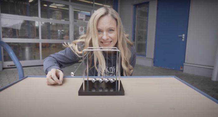 Nadine Petry in einem Werbespot